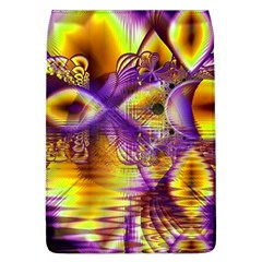 Golden Violet Crystal Palace, Abstract Cosmic Explosion Removable Flap Cover (Large)