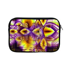Golden Violet Crystal Palace, Abstract Cosmic Explosion Apple iPad Mini Zippered Sleeve