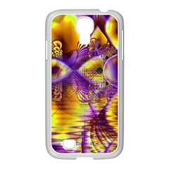 Golden Violet Crystal Palace, Abstract Cosmic Explosion Samsung GALAXY S4 I9500/ I9505 Case (White)