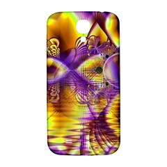 Golden Violet Crystal Palace, Abstract Cosmic Explosion Samsung Galaxy S4 I9500/I9505  Hardshell Back Case