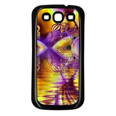 Golden Violet Crystal Palace, Abstract Cosmic Explosion Samsung Galaxy S3 Back Case (black)