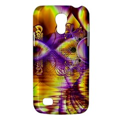 Golden Violet Crystal Palace, Abstract Cosmic Explosion Samsung Galaxy S4 Mini (GT-I9190) Hardshell Case
