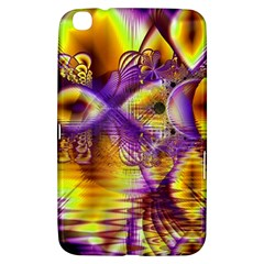 Golden Violet Crystal Palace, Abstract Cosmic Explosion Samsung Galaxy Tab 3 (8 ) T3100 Hardshell Case