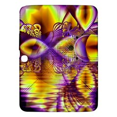 Golden Violet Crystal Palace, Abstract Cosmic Explosion Samsung Galaxy Tab 3 (10.1 ) P5200 Hardshell Case