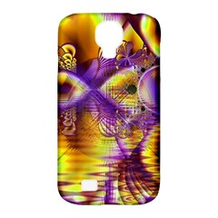 Golden Violet Crystal Palace, Abstract Cosmic Explosion Samsung Galaxy S4 Classic Hardshell Case (PC+Silicone)