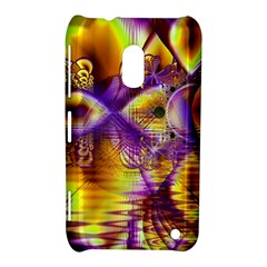 Golden Violet Crystal Palace, Abstract Cosmic Explosion Nokia Lumia 620 Hardshell Case