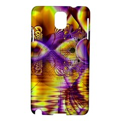 Golden Violet Crystal Palace, Abstract Cosmic Explosion Samsung Galaxy Note 3 N9005 Hardshell Case