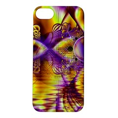 Golden Violet Crystal Palace, Abstract Cosmic Explosion Apple Iphone 5s Hardshell Case