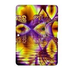 Golden Violet Crystal Palace, Abstract Cosmic Explosion Samsung Galaxy Tab 2 (10.1 ) P5100 Hardshell Case