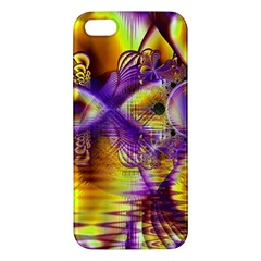 Golden Violet Crystal Palace, Abstract Cosmic Explosion iPhone 5S Premium Hardshell Case