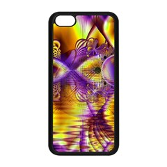 Golden Violet Crystal Palace, Abstract Cosmic Explosion Apple Iphone 5c Seamless Case (black)
