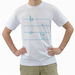 After The Flatline Men s T Shirt (white)