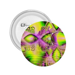 Raspberry Lime Mystical Magical Lake, Abstract  2.25  Button