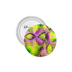 Raspberry Lime Mystical Magical Lake, Abstract  1.75  Button