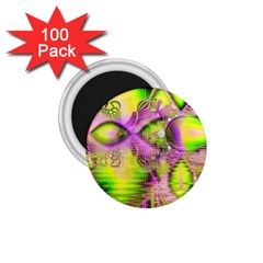 Raspberry Lime Mystical Magical Lake, Abstract  1.75  Button Magnet (100 pack)