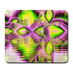 Raspberry Lime Mystical Magical Lake, Abstract  Large Mouse Pad (rectangle)