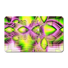 Raspberry Lime Mystical Magical Lake, Abstract  Magnet (Rectangular)