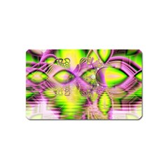 Raspberry Lime Mystical Magical Lake, Abstract  Magnet (Name Card)