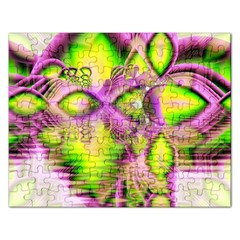 Raspberry Lime Mystical Magical Lake, Abstract  Jigsaw Puzzle (rectangle)