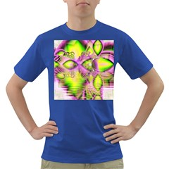 Raspberry Lime Mystical Magical Lake, Abstract  Men s T-shirt (Colored)
