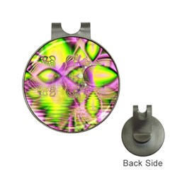 Raspberry Lime Mystical Magical Lake, Abstract  Hat Clip with Golf Ball Marker