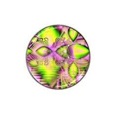Raspberry Lime Mystical Magical Lake, Abstract  Golf Ball Marker 4 Pack (for Hat Clip)