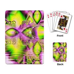 Raspberry Lime Mystical Magical Lake, Abstract  Playing Cards Single Design