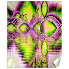 Raspberry Lime Mystical Magical Lake, Abstract  Canvas 16  X 20  (unframed)