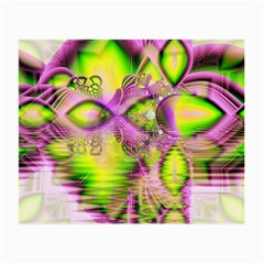 Raspberry Lime Mystical Magical Lake, Abstract  Glasses Cloth (small, Two Sided)