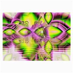 Raspberry Lime Mystical Magical Lake, Abstract  Glasses Cloth (large, Two Sided)