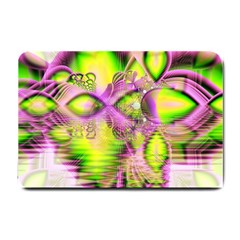 Raspberry Lime Mystical Magical Lake, Abstract  Small Door Mat