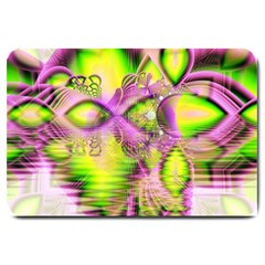 Raspberry Lime Mystical Magical Lake, Abstract  Large Door Mat