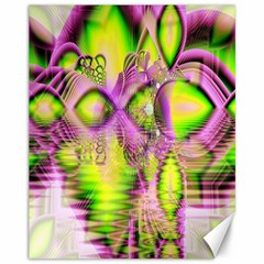 Raspberry Lime Mystical Magical Lake, Abstract  Canvas 11  x 14  (Unframed)