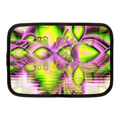 Raspberry Lime Mystical Magical Lake, Abstract  Netbook Sleeve (Medium)