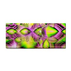 Raspberry Lime Mystical Magical Lake, Abstract  Hand Towel
