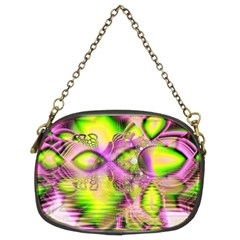 Raspberry Lime Mystical Magical Lake, Abstract  Chain Purse (two Sided)