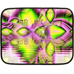 Raspberry Lime Mystical Magical Lake, Abstract  Mini Fleece Blanket (Two Sided)