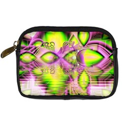 Raspberry Lime Mystical Magical Lake, Abstract  Digital Camera Leather Case