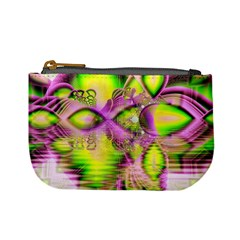 Raspberry Lime Mystical Magical Lake, Abstract  Coin Change Purse