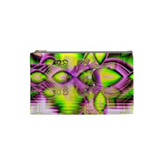 Raspberry Lime Mystical Magical Lake, Abstract  Cosmetic Bag (Small)