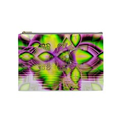 Raspberry Lime Mystical Magical Lake, Abstract  Cosmetic Bag (Medium)