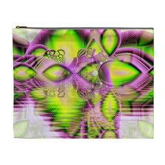 Raspberry Lime Mystical Magical Lake, Abstract  Cosmetic Bag (xl)
