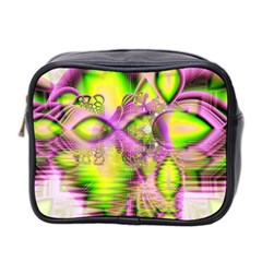Raspberry Lime Mystical Magical Lake, Abstract  Mini Travel Toiletry Bag (two Sides)
