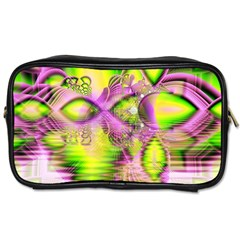 Raspberry Lime Mystical Magical Lake, Abstract  Travel Toiletry Bag (Two Sides)