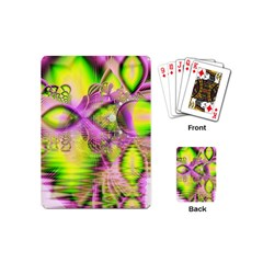 Raspberry Lime Mystical Magical Lake, Abstract  Playing Cards (mini)
