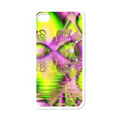 Raspberry Lime Mystical Magical Lake, Abstract  Apple Iphone 4 Case (white)