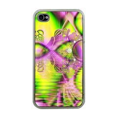 Raspberry Lime Mystical Magical Lake, Abstract  Apple iPhone 4 Case (Clear)