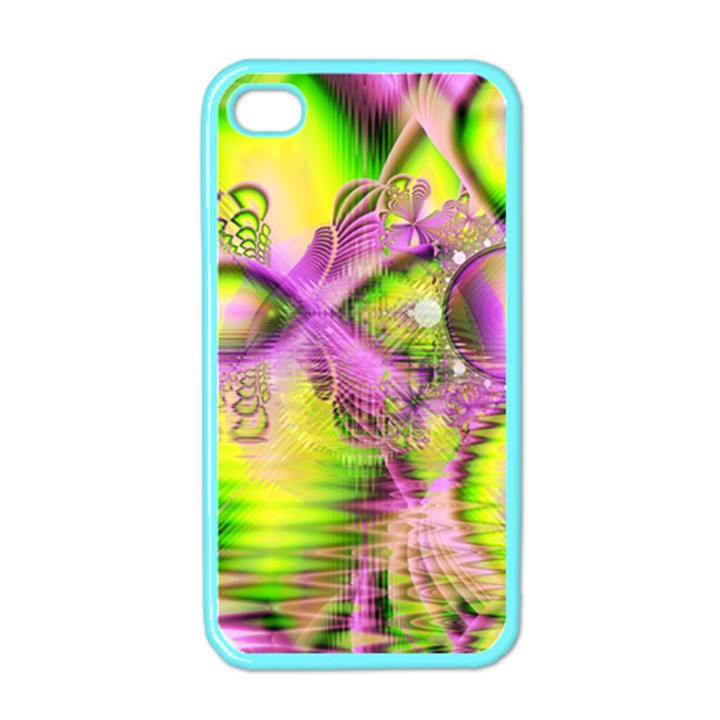 Raspberry Lime Mystical Magical Lake, Abstract  Apple iPhone 4 Case (Color)