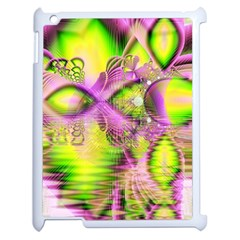 Raspberry Lime Mystical Magical Lake, Abstract  Apple Ipad 2 Case (white)