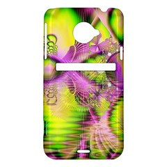 Raspberry Lime Mystical Magical Lake, Abstract  HTC Evo 4G LTE Hardshell Case